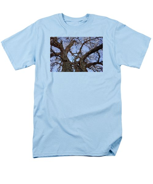 Men's T-Shirt  (Regular Fit) featuring the painting Black Oaks by Mark Greenberg