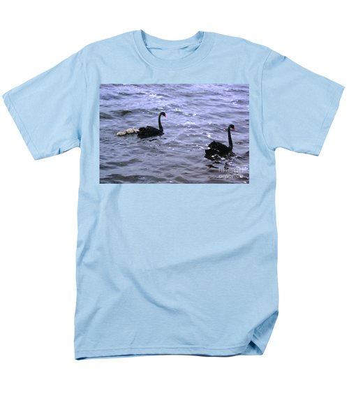 Black Swan Family Men's T-Shirt  (Regular Fit) by Cassandra Buckley