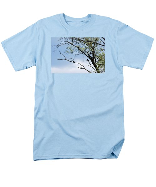 Men's T-Shirt  (Regular Fit) featuring the photograph Blackbirds 20120409_221a by Tina Hopkins