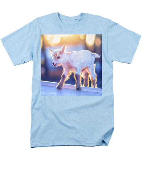 Men's T-Shirt  (Regular Fit) featuring the photograph Little Baby Goat Sunset by TC Morgan