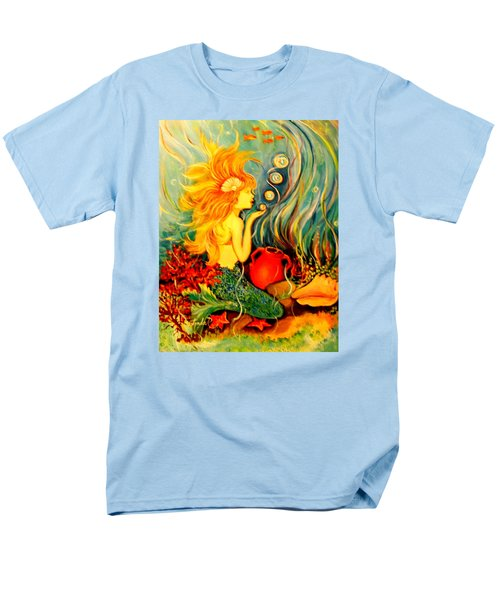 Men's T-Shirt  (Regular Fit) featuring the painting Blowing Bubbles by Yolanda Rodriguez