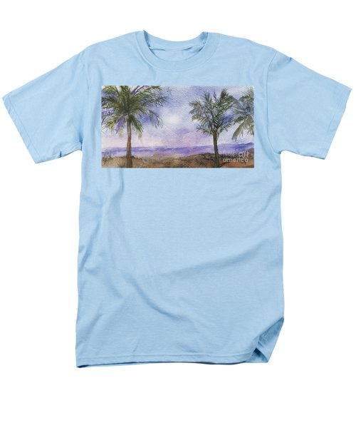 Men's T-Shirt  (Regular Fit) featuring the painting Blowing By The Ocean by Vicki  Housel
