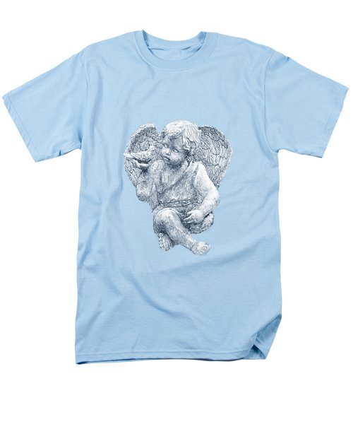 Men's T-Shirt  (Regular Fit) featuring the photograph Blue Angel Cutout by Linda Phelps