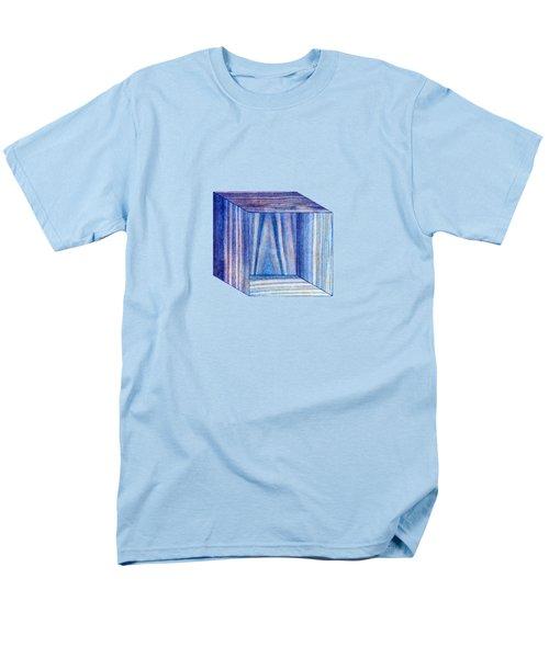 Blue Box Sitting Men's T-Shirt  (Regular Fit) by YoPedro
