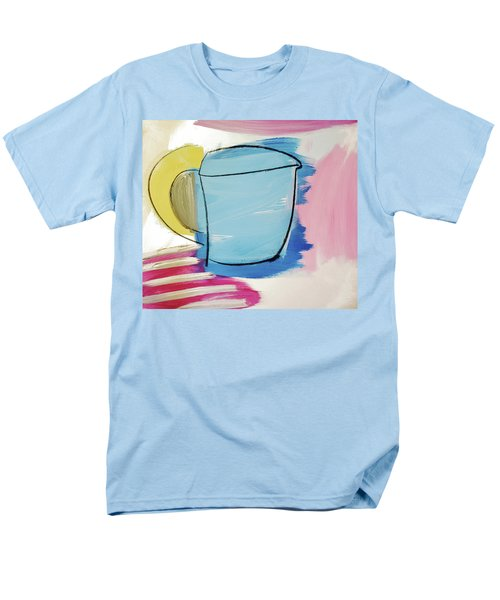 Blue Coffee Mug Men's T-Shirt  (Regular Fit)