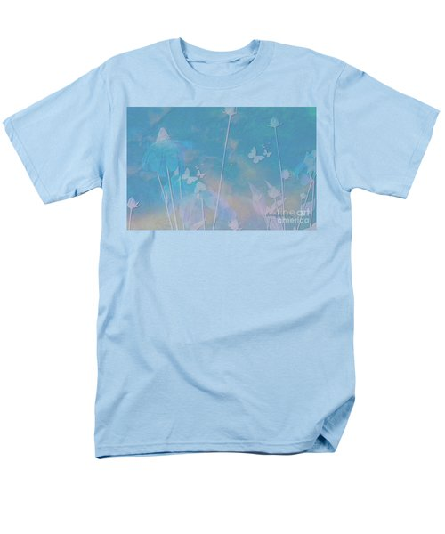 Blue Daisies And Butterflies Men's T-Shirt  (Regular Fit) by Sherri's Of Palm Springs