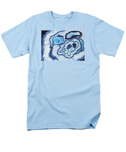 Men's T-Shirt  (Regular Fit) featuring the painting Blue Lace Agate I by Ellen Levinson