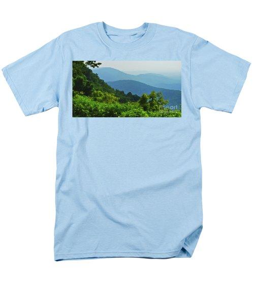 Blue Ridge Mountain Layers Men's T-Shirt  (Regular Fit) by Kerri Farley