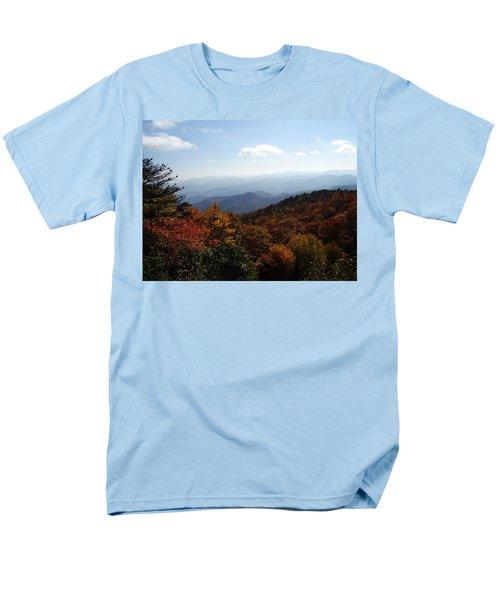 Blue Ridge Mountains Men's T-Shirt  (Regular Fit) by Flavia Westerwelle