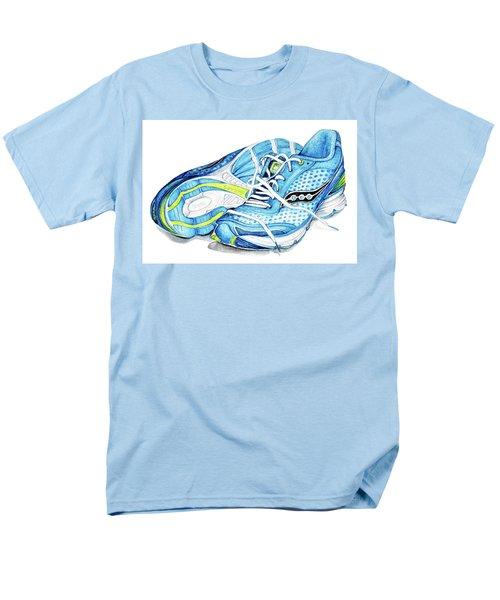 Blue Running Shoes Men's T-Shirt  (Regular Fit) by Heidi Kriel