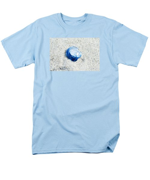 Men's T-Shirt  (Regular Fit) featuring the painting Blue Seashell By Sharon Cummings by Sharon Cummings