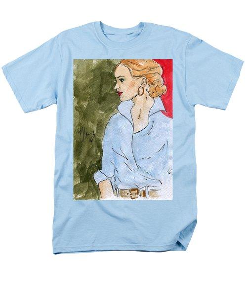 Blue Shirt Men's T-Shirt  (Regular Fit)