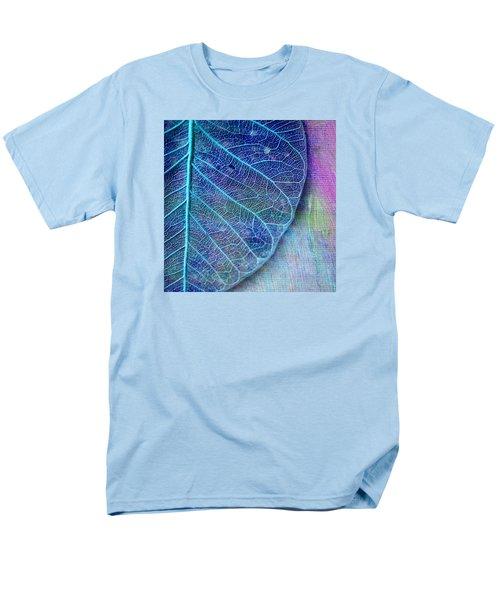 Blue Skeletal Leaf Men's T-Shirt  (Regular Fit)