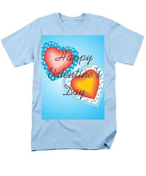 Men's T-Shirt  (Regular Fit) featuring the digital art Blue Valentine Lace  by Sherril Porter