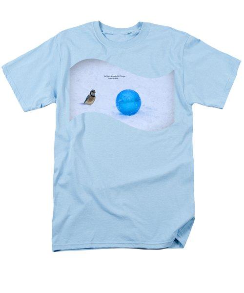 Blue Winter Men's T-Shirt  (Regular Fit) by Linda Troski