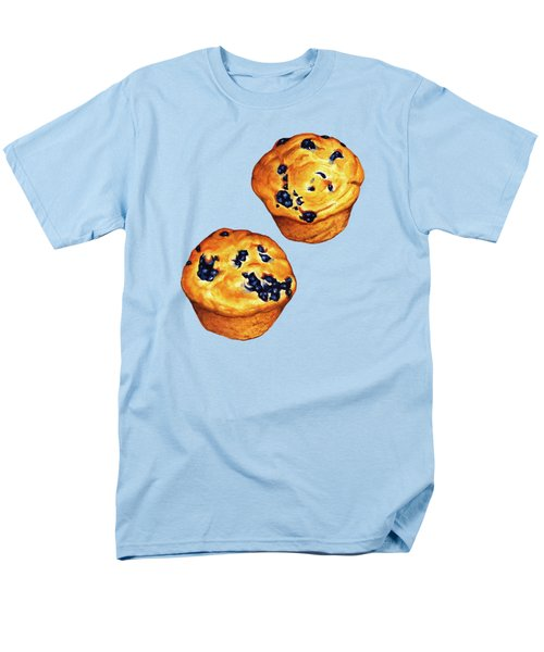 Blueberry Muffin Pattern Men's T-Shirt  (Regular Fit) by Kelly Gilleran