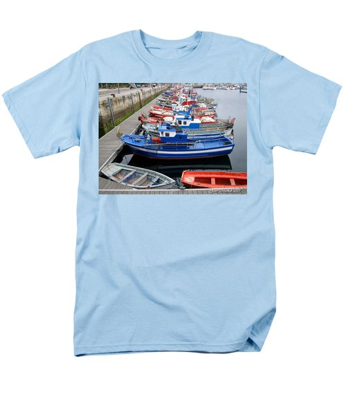 Men's T-Shirt  (Regular Fit) featuring the photograph Boats In Norway by Joan  Minchak