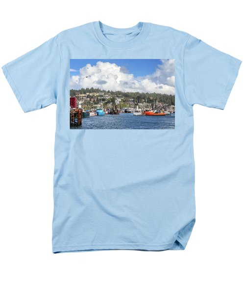 Boats In Yaquina Bay Men's T-Shirt  (Regular Fit) by James Eddy