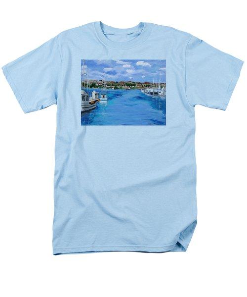 Bodega Bay From Spud Point Marina Men's T-Shirt  (Regular Fit) by Mike Caitham