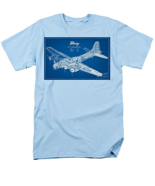 Men's T-Shirt  (Regular Fit) featuring the drawing Boeing Flying Fortress by Pg Reproductions