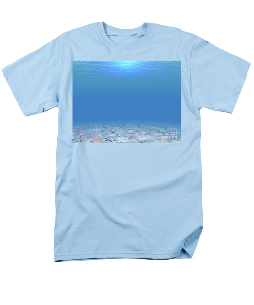 Men's T-Shirt  (Regular Fit) featuring the digital art Bottom Of The Sea by Phil Perkins