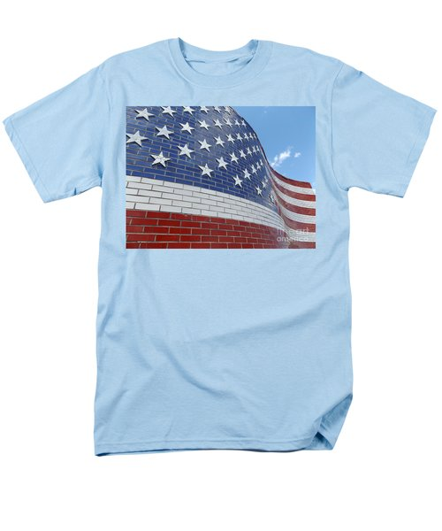 Brick Flag Men's T-Shirt  (Regular Fit) by Erick Schmidt