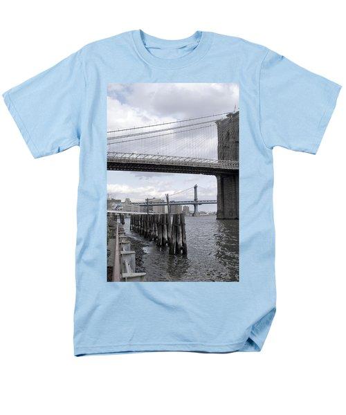 Brooklyn Bridge II Men's T-Shirt  (Regular Fit) by Henri Irizarri