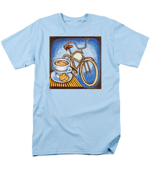 Brown Electra Delivery Bicycle Coffee And Amaretti Men's T-Shirt  (Regular Fit) by Mark Jones
