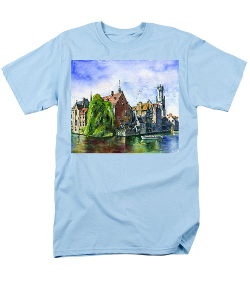 Bruges Belgium Men's T-Shirt  (Regular Fit) by John D Benson
