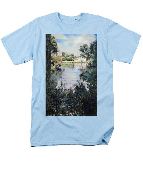 Buckingham Palace Garden - No One Men's T-Shirt  (Regular Fit) by Richard James Digance