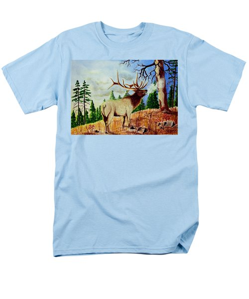 Bugling Elk Men's T-Shirt  (Regular Fit) by Jimmy Smith