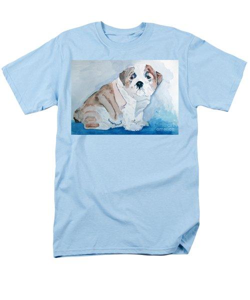 Bulldog Puppy Men's T-Shirt  (Regular Fit) by Sandy McIntire