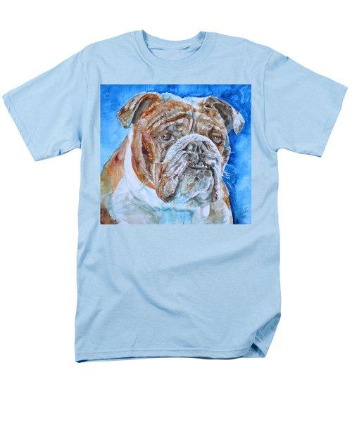 Men's T-Shirt  (Regular Fit) featuring the painting Bulldog - Watercolor Portrait.8 by Fabrizio Cassetta
