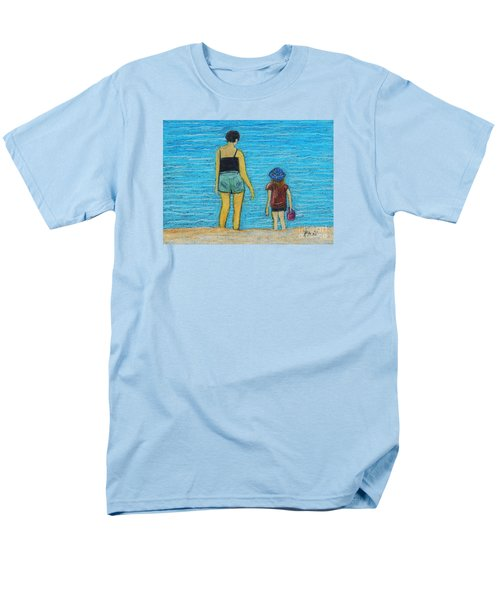 By The Sea Men's T-Shirt  (Regular Fit) by Reb Frost