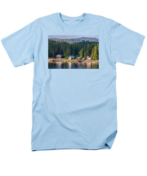 Cabins On The Water Men's T-Shirt  (Regular Fit) by Lewis Mann