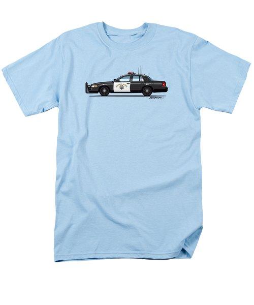 California Highway Patrol Ford Crown Victoria Police Interceptor Men's T-Shirt  (Regular Fit) by Monkey Crisis On Mars