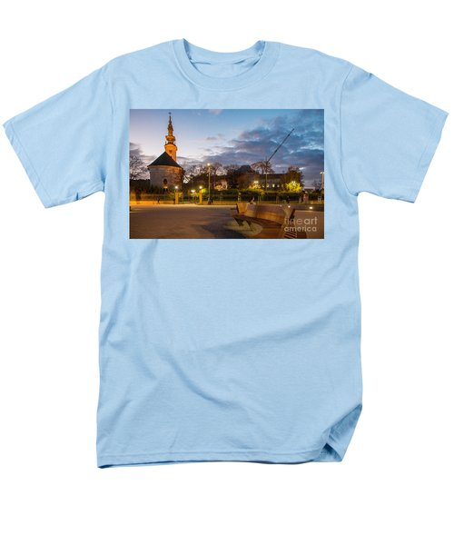 Men's T-Shirt  (Regular Fit) featuring the photograph Calm Twilight In Novi Sad Vojvodina by Jivko Nakev