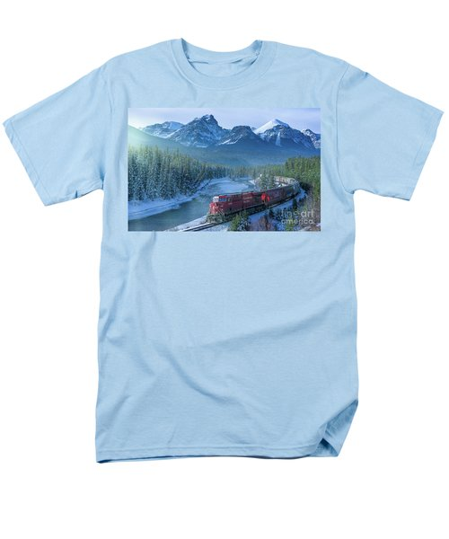 Canadian Pacific Railway Through The Rocky Mountains Men's T-Shirt  (Regular Fit) by Rod Jellison