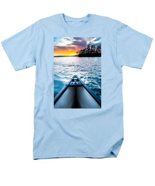 Canoeing In Paradise Men's T-Shirt  (Regular Fit) by Parker Cunningham