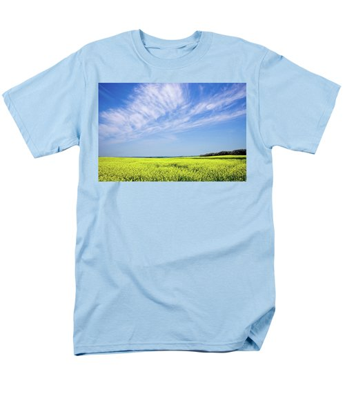 Men's T-Shirt  (Regular Fit) featuring the photograph Canola Blue by Keith Armstrong