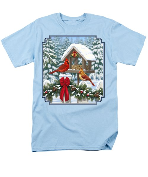 Cardinals Christmas Feast Men's T-Shirt  (Regular Fit) by Crista Forest