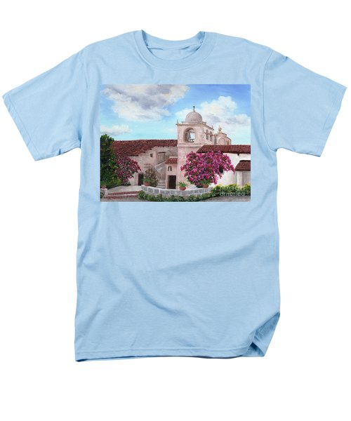 Carmel Mission In Spring Men's T-Shirt  (Regular Fit) by Laura Iverson