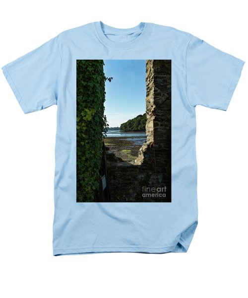Men's T-Shirt  (Regular Fit) featuring the photograph Photographs Of Cornwall Carnon Mine Window by Brian Roscorla