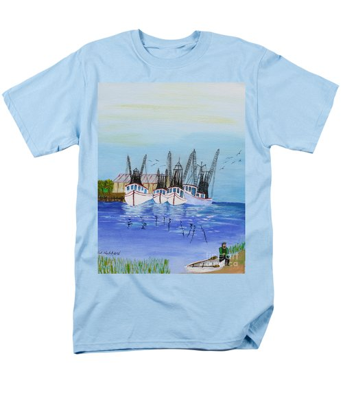 Carolina Shrimpers Men's T-Shirt  (Regular Fit) by Bill Hubbard
