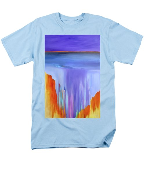 Men's T-Shirt  (Regular Fit) featuring the painting Casade by Jo Appleby