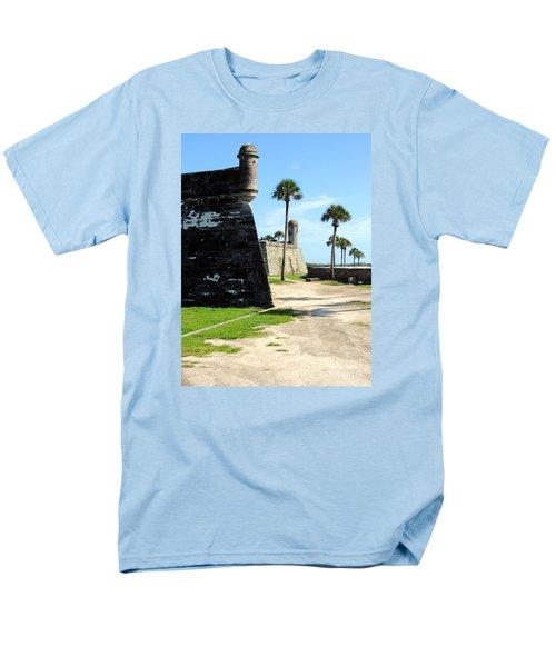 Men's T-Shirt  (Regular Fit) featuring the photograph Castillo De San Marcos St Augustine Florida by Bill Holkham