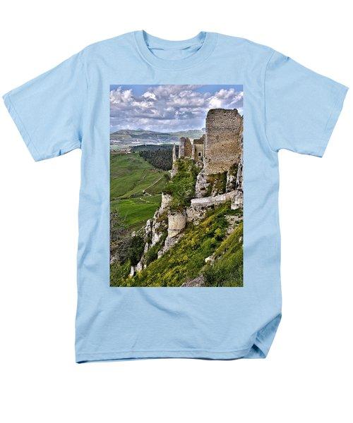 Castle Of Pietraperzia Men's T-Shirt  (Regular Fit) by Patrick Boening