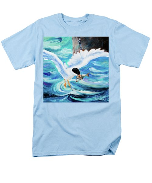 Men's T-Shirt  (Regular Fit) featuring the painting Catch by Igor Postash