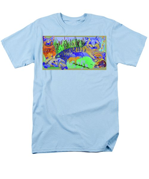 Cats And A Fiddle Men's T-Shirt  (Regular Fit) by Sandy McIntire