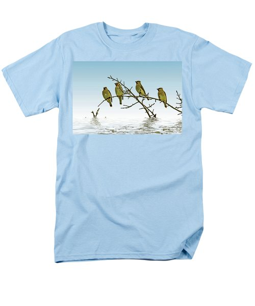 Cedar Waxwings On A Branch Men's T-Shirt  (Regular Fit) by Geraldine Scull